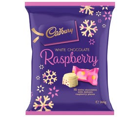 Cadbury Christmas White Chocolate Raspberry 144g
