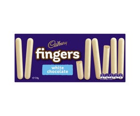 Cadbury Fingers White Chocolate 114g