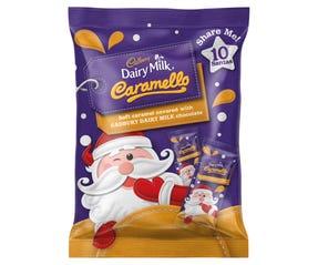 Cadbury Dairy Milk Caramello Santa Sharepack 10 Pack