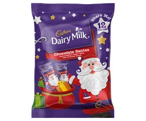 Cadbury Dairy Milk Chocolate Santa Sharepack 144g