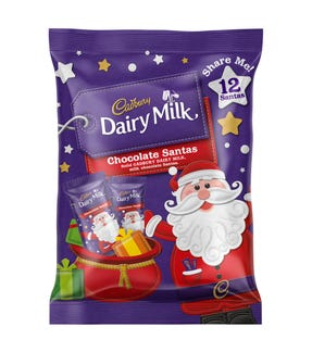 Cadbury Dairy Milk Chocolate Santa Sharepack 144g