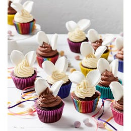 Double Choc Chip Bunny Cupcakes