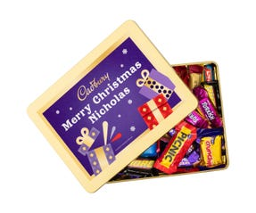 Cadbury Favourites Personalised Gift Tin - Merry Christmas