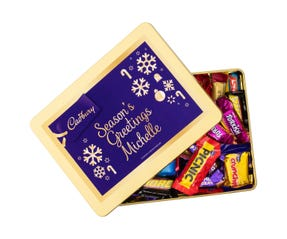 Cadbury Favourites Personalised Gift Tin - Season's Greetings