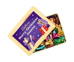 Cadbury Roses Personalised Gift Tin - Merry Christmas