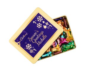 Cadbury Roses Personalised Gift Tin - Season's Greetings