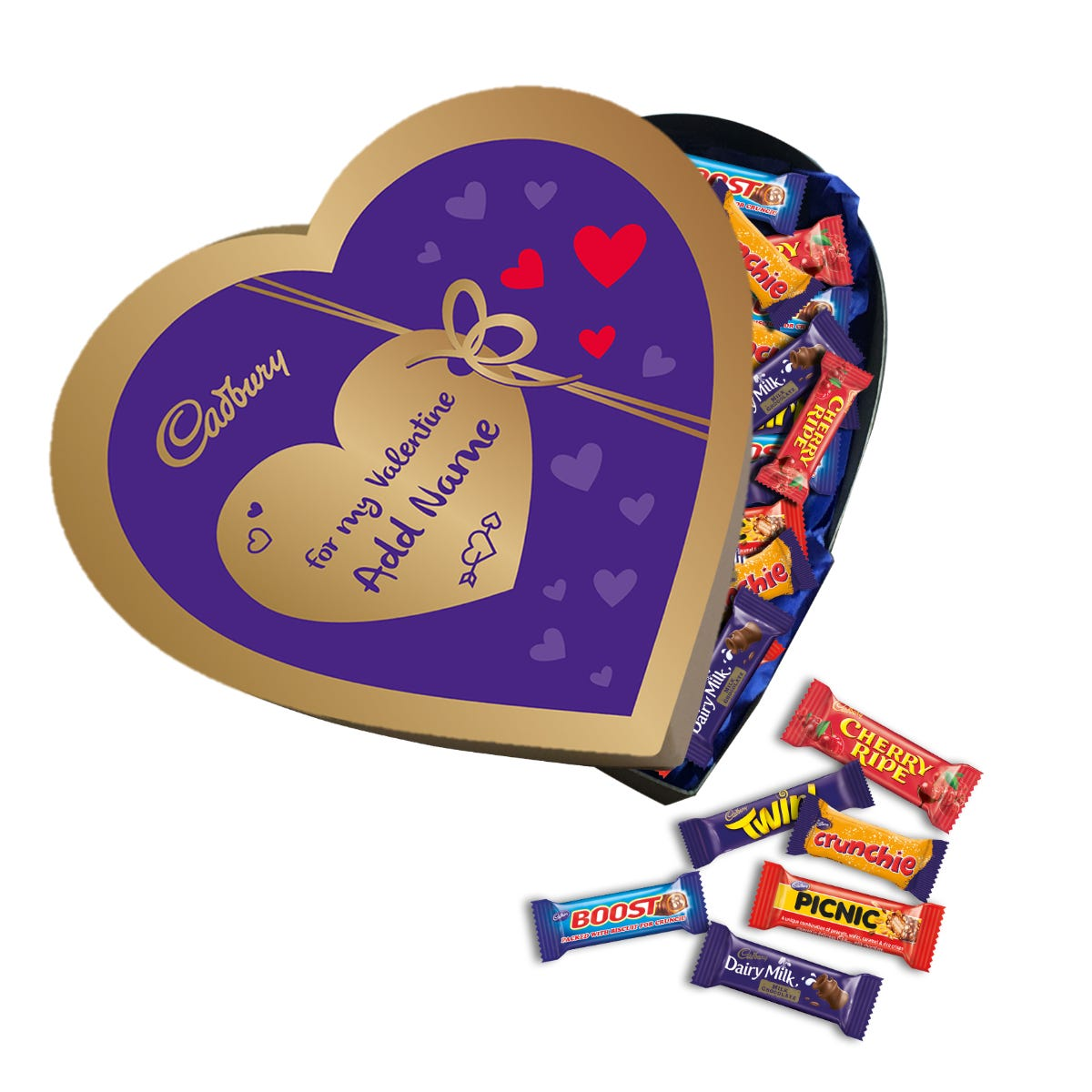 Cadbury Heart Shaped Giftbox - Make your own