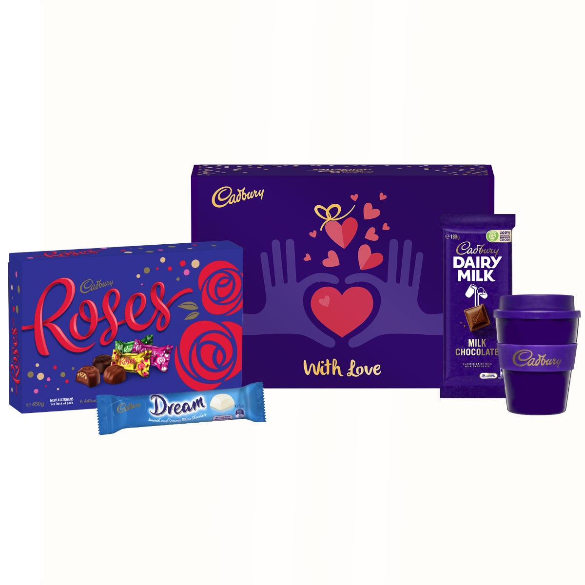 Cadbury Roses gift pack - With Love
