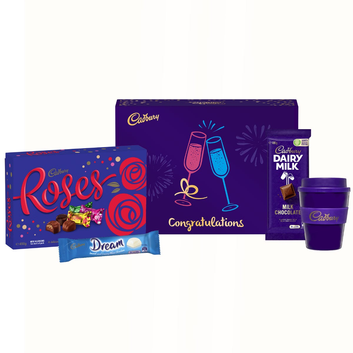 Cadbury Roses gift pack - Congratulations