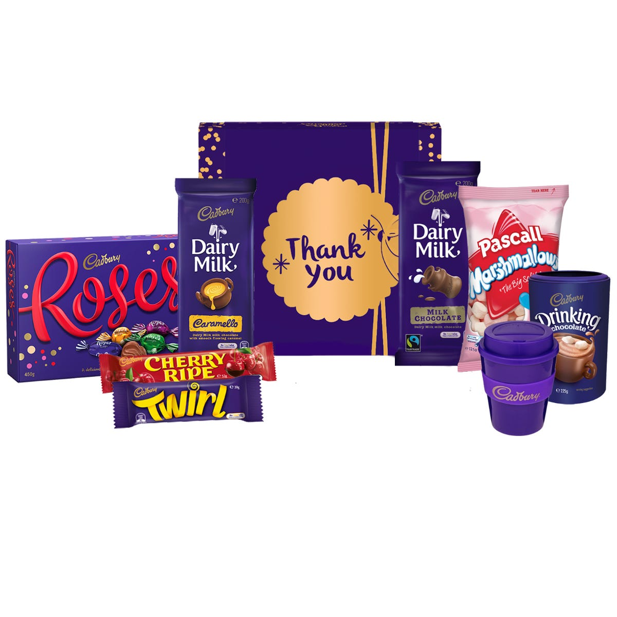 Cadbury Roses Indulgence Hamperl - Thank You