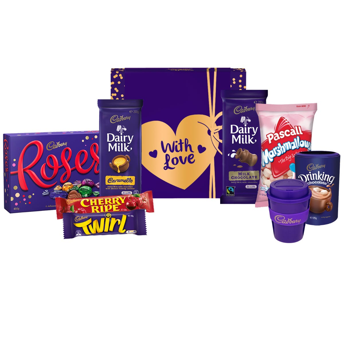 Cadbury Roses Indulgence Hamper - With Love
