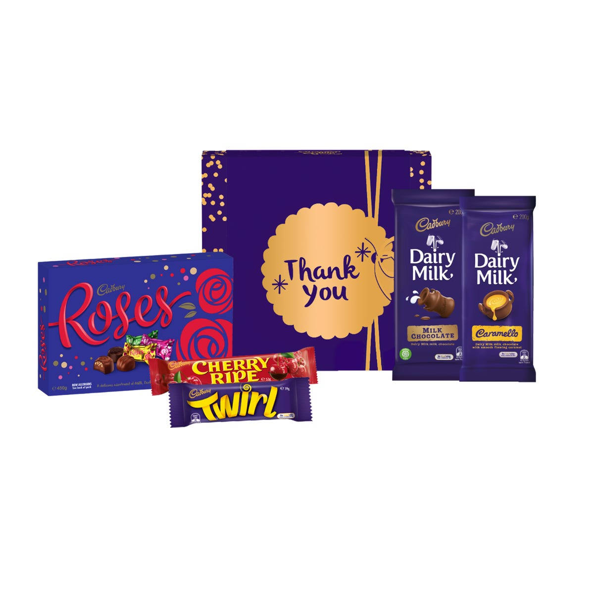 Cadbury Roses Hamper - Small - Thank You