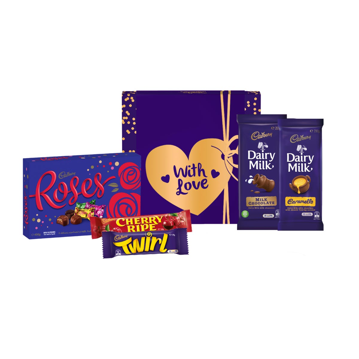 Cadbury Roses Hamper - Small - With Love