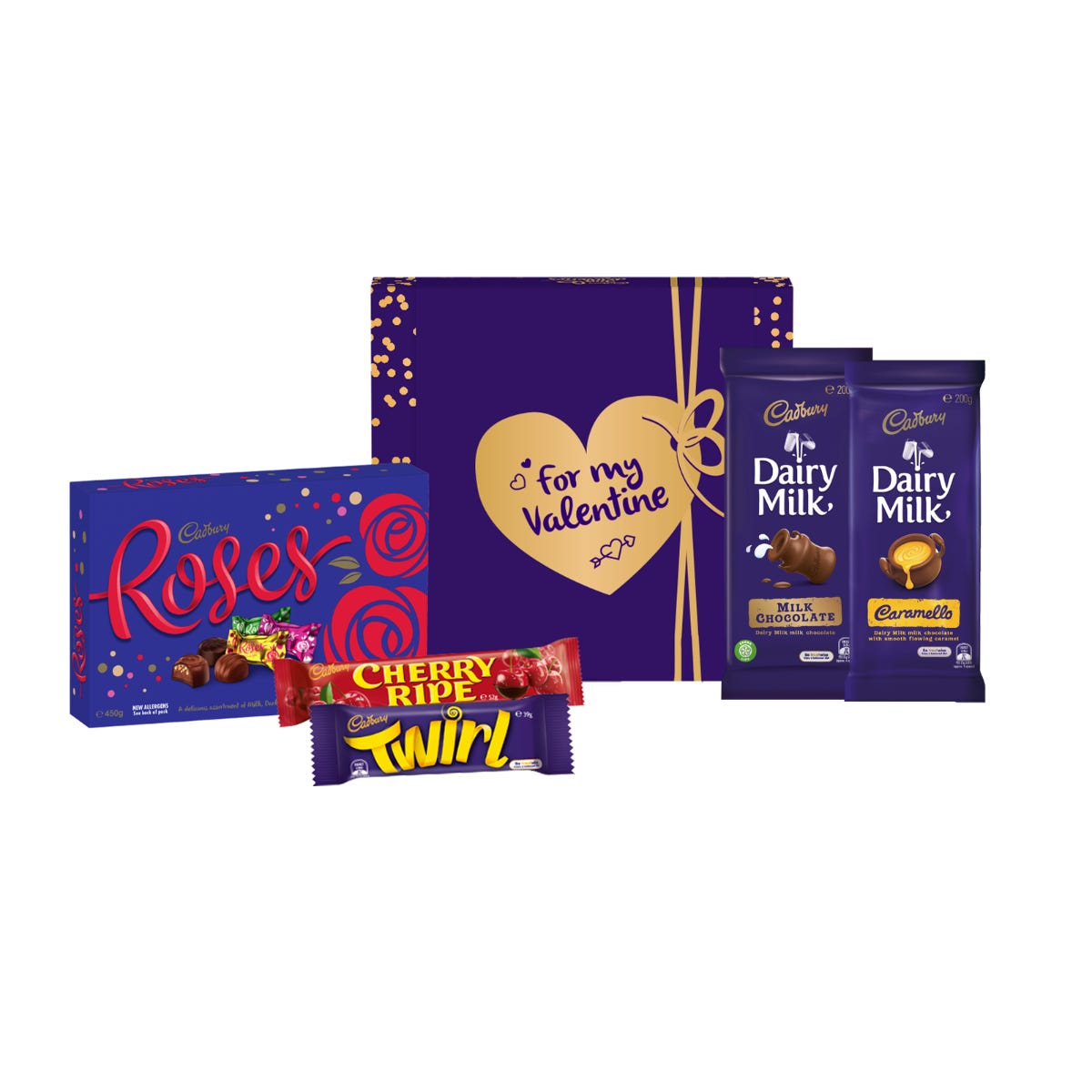 Cadbury Roses Hamper - For My Valentine