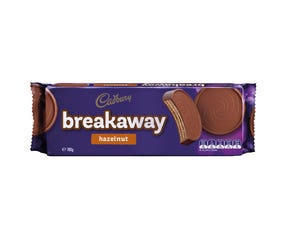 Cadbury Breakaway Hazelnut milk chocolate biscuits180g