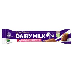 Cadbury Dairy Milk Marvellous Creations Jelly Popping Candy & Beanies milk chocolate bar 50g