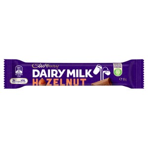 Cadbury Dairy Milk Hazelnut milk chocolate bar 55g