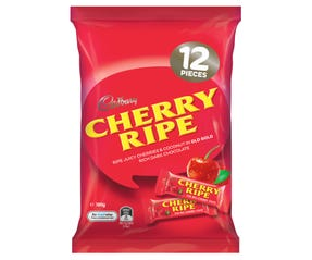 Cadbury Cherry Ripe Sharepack 12 Pack 180g