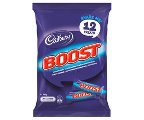 Cadbury Boost Milk Chocolate Sharepack 180g (12 pack)