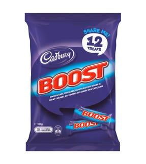 Cadbury Boost Milk Chocolate Sharepack 180g (12 pack)