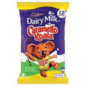 Cadbury Dairy Milk Caramello Koala Chocolate Sharepack 12 Pack 180g