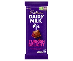 Cadbury Dairy Milk Turkish Delight milk chocolate block 180g