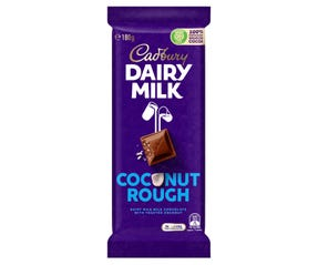 Cadbury Dairy Milk Coconut Rough milk chocolate block 180g