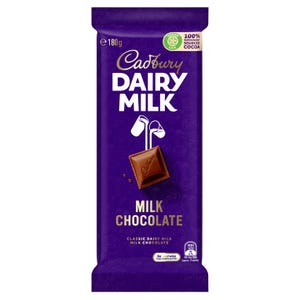 Cadbury Dairy Milk Chocolate Classic milk chocolate block 180g