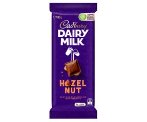 Cadbury Dairy Milk Hazelnut milk chocolate block 180g
