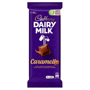 Cadbury Dairy Milk Caramello milk chocolate block 180g