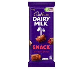 Cadbury Dairy Milk Snack milk chocolate block 180g