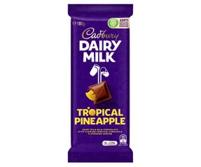 Cadbury Dairy Milk Tropical Pineapple milk chocolate block 180g