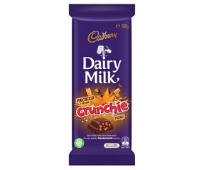 Cadbury Dairy Milk Crunchie milk chocolate block 180g