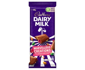 Cadbury Dairy Milk Marvellous Creations Jelly Popping Candy Beanies milk chocolate block 190g