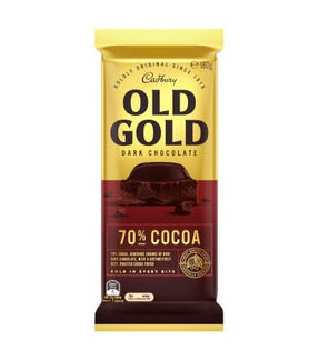 Cadbury Old Gold Dark Chocolate 70% Cocoa 180g