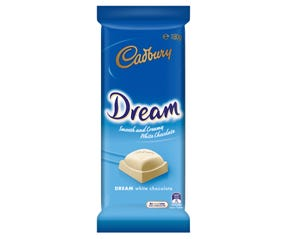Cadbury Dream white chocolate block 180g