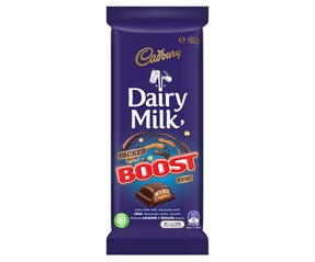 Cadbury Dairy Milk Boost milk chocolate block 162g