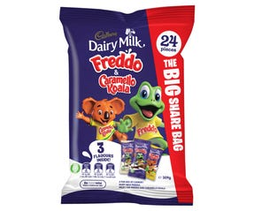 Cadbury Dairy Milk Freddo & Caramello Koala Share Bag 24 Pack