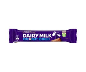 Cadbury Dairy Milk Coconut Rough milk chocolate bar 45g