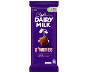 Cadbury Dairy Milk S'mores milk chocolate block 170g