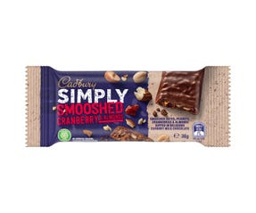 Cadbury Simply Smooshed Cranberry & Almonds 36g