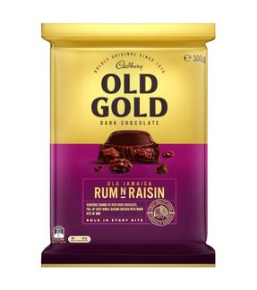 Cadbury Old Gold Dark Chocolate Old Jamaica Rum N Raisin 300g