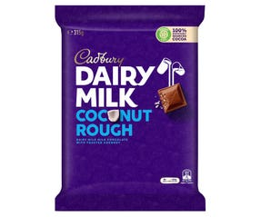 Cadbury Dairy Milk Coconut Rough milk chocolate block 315g