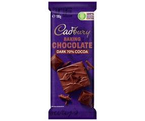 Cadbury Baking 70% Cocoa Dark Chocolate 180g