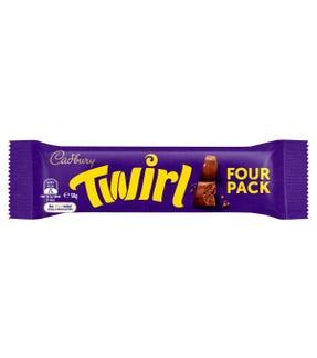 Cadbury Twirl chocolate bar 4 Pack 58g