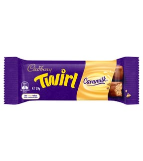 Cadbury Twirl Caramilk chocolate bar 39g