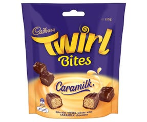Cadbury Twirl Caramilk chocolate bar 4 pack 58g