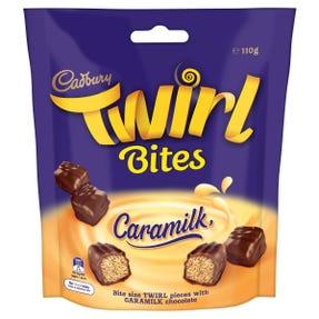 Cadbury Twirl Caramilk chocolate bar 4 pack 58g