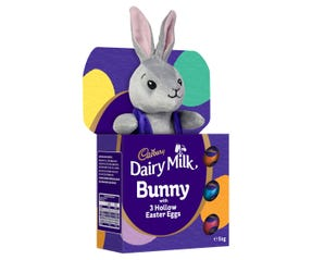 Cadbury Dairy Milk Bunny with 3 Hollow Easter Eggs Gift Box 51g