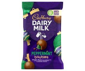 Cadbury Dairy Milk Peppermint Baubles 117g